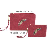 Red Wine Makeup Wallet Pouch Bag Close Out - 2 piece Set