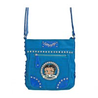 Blue Betty Boop Large Size Messenger Bag - B15F361