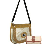 Tan Signature Style Messenger Bag with Wallet - KE1337-KW260