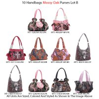 10 Handbags - Mossy Oak & Real Tree Collection Lot B