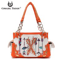 Coral 'Arrows on Target' Handbag - ARR2 8469