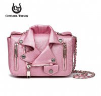 Rose 'Cowgirl Trendy' Biker Jacket Handbag - BKT3 5395