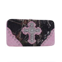 Pink 'Mossy Oak' Hard Case Wallet - MT1-AW251 MO/PK