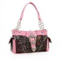 Pink Western Camo Belt Buckle Handbag - MT1-40020P