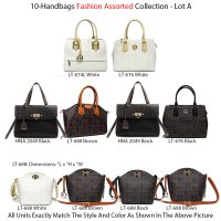 10 Handbags Signature Inspired Collection - Lot A