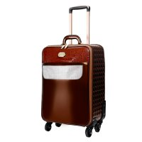Bronze Crocodile Diamond Carry-On Luggage - KGL8899