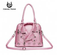 Rose 'Cowgirl Trendy' Biker Jacket Handbag - BKT3 5385