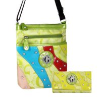 Green G-Style Messenger Bag with Wallet - KE1297-KW194