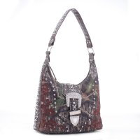 Coffee Western Mossy Oak Camo Hobo Handbag - MT1-40019P