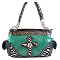Turquoise Western Cowgirl Trendy Handbag - PTF5901