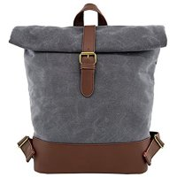 Taupe Waxed Canvas Waterproof Backpack - PTF17271