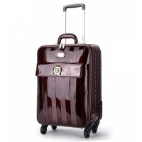 Pewter Floral Accent Carry-On Luggage - KDL8899
