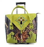Green Camouflage Cross Rollie Tote - G1255 GREEN