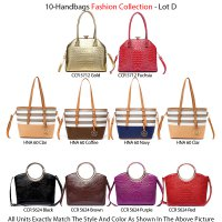 10 Handbags Fashion Happy Season Collection - Lot D