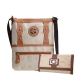 Tan Signature Style Messenger Bag with Wallet - KE1518-KW261 Set