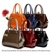 """Euro Moda"" Collections Italian Handbags - KB8104"