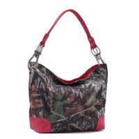 Red 'Mossy Oak' Camo Camouflage Tote Handbag - MT1-3179 MO/RD