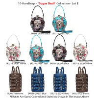 10 Handbags 'Sugar Skull' Collection - Lot C