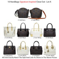 10 Handbags Signature Inspired Close Out - Lot A
