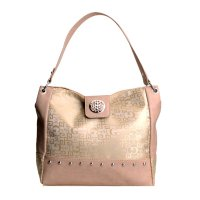 Tan Gray Signature Style Wholesale Tote Handbag - K1535