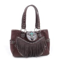 Brown 'Real Tree' Fringed Western Handbag - MJ6802