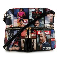 Black Obamas Magazine Patent Messenger Bag - MB3031 BK