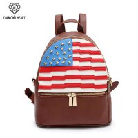 Brown American Flag Fashion Backpack - DH 265