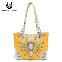 Sun Flower Butterfly Patch Embroidery Buckle Bag - BFU4 5166B