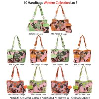 10 Handbags Western Collection - Lot E