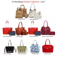 10 Handbag Fashion Assorted Collection - Lot D