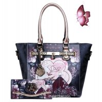 "Black Arosa ""Queen Lady"" Handbag & Wallet - BG8608-BGW8682"