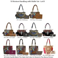 10 Handbag Sets Premium Western Cowgirl Collection - Lot B