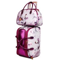 Purple Arosa Princess Mermaid Wheel Duffel Handbag - BCD6988