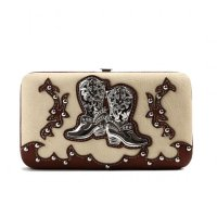 Banana Cowgirl Trendy Western Boots Wallet - BOO4 4326