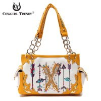 Mustard 'Arrows on Target' Handbag - ARR2 8469