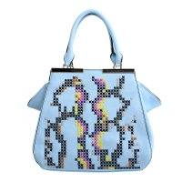 Blue David Jones Satchel Handbag - DT0037