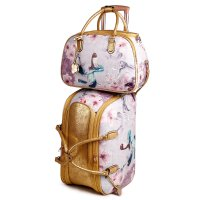 Gold Arosa Princess Mermaid Wheel Duffel Handbag - BCD6988