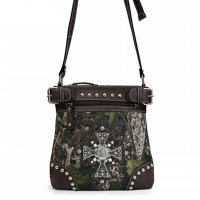 Brown 'Cowgirl Trendy' Western Messenger Bag - FML33 4690C