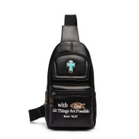 "Black "" With God All Things Are Possible"" Backpack - BCU 5656"