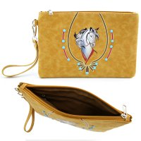 Camel Western Coin Purse Wallet Pouch Makeup Bag - PTF17173
