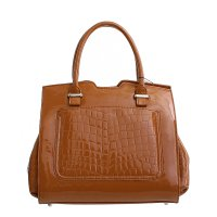 Brown Prestigio Satchel Handbag - PG236