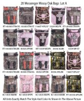 20 Messenger Mossy Oak & Real Tree Collection Lot A