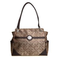 Brown Signature Style Wholesale Tote Handbag - K1532