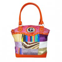Orange Signature Style Wholesale Tote Handbag - K1302