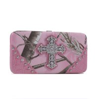 Pink 'Real Tree' Hard Case Wallet - RT1-AW251A APP/LPK