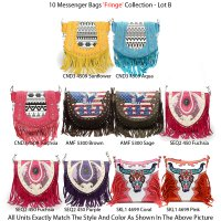 10 Messenger Bags 'Fringe' Collection - Lot B