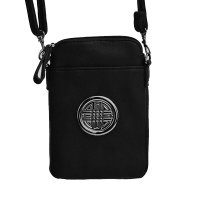 Black Fashion Cell Phone Pouch Bag - F18E573