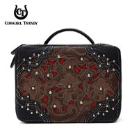 Black 'Cowgirl Trendy' Bible Cover Case - WWA 455