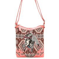 Coral 'Native American' Western Messenger Bag - INW 4699