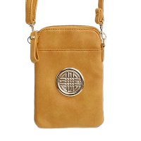 Brown Fashion Cell Phone Pouch Bag - F18E573